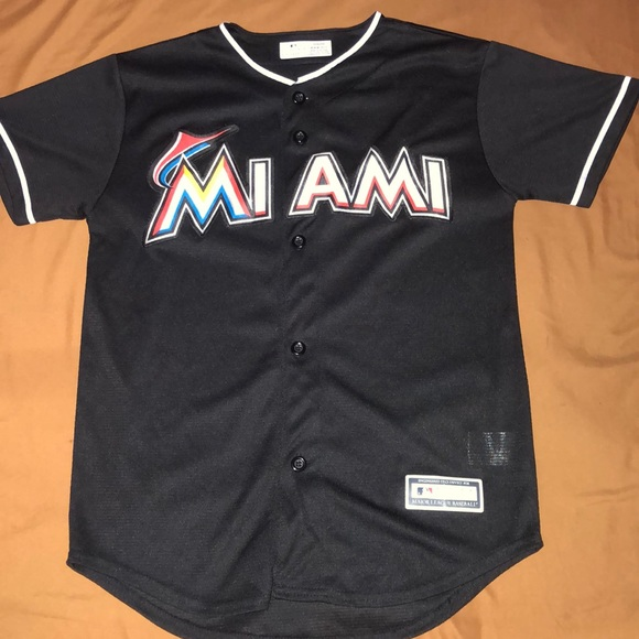 sports shoes e2cd8 b3e1f Sale🔥Miami Marlins Baseball Jersey